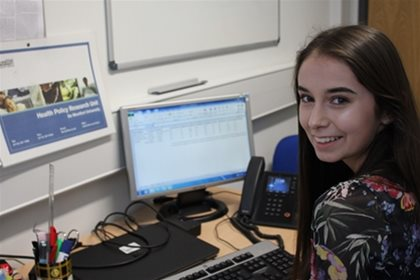 Case Study - Erika Grimbley Work Experience at Health Policy Research Unit, De Montfort University
